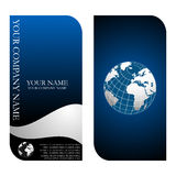 Business card templates. Stylish business card templates in  format, you can easily change the text Royalty Free Stock Photo