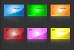 Business card templates. Six colour variants - editable Royalty Free Stock Images