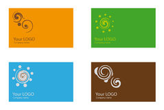 Business card templates. A collection of 4 corporate business card templates Royalty Free Stock Image