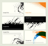 Business card templates. Set of business card templates Stock Images
