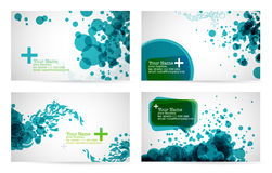 Business card templates. In blue color tones Stock Images
