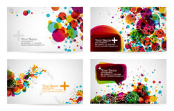 Business card templates. In rainbow colors Royalty Free Stock Photos