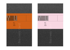 Business card templates. Vector collection business cards templates Royalty Free Stock Photos