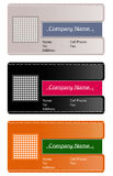 Business card templates. Vector collection business cards templates Stock Photo