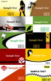 Business card templates. Collection of business card templates vector illustration royalty free illustration