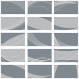 Business card templates. Vector illustratiın of business card templates collection Stock Photos