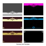 Business Card Templates. Illustration of business card templates set royalty free illustration