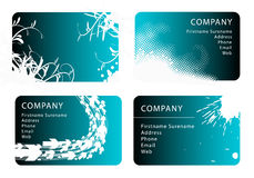 Business card templates. Set of blue business card templates Stock Photography