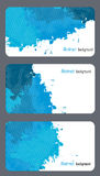 Business card templates with abstract background Stock Images