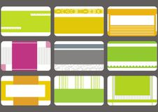 Business Card Templates Collection Royalty Free Stock Photography