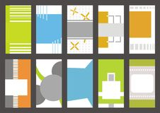 Business Card Templates Collection Stock Image