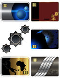 Business card templates collection. Abstract backgrounds of your business cards Royalty Free Stock Image