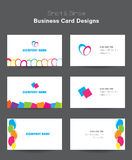 Business card templates. Colorful business card templats designs vector illustration
