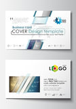 Business card templates. Cover design template, easy editable blank, abstract flat layout. Christmas decoration, vector Stock Images