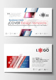 Business card templates. Cover design template, easy editable blank, abstract flat layout. Christmas decoration, vector Royalty Free Stock Photos
