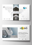 Business card templates. Cover design template, easy editable blank, flat layout. Royalty Free Stock Images