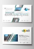 Business card templates. Cover design template, easy editable blank, flat layout. Abstract background, blurred image. Business card templates. Cover design royalty free illustration