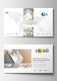 Business card templates. Cover design template, easy editable blank, flat layout. Abstract gray color  background Royalty Free Stock Photo