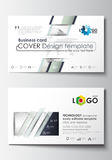 Business card templates. Cover design template, easy editable blank, flat layout. Dotted world globe with abstract Royalty Free Stock Images