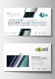 Business card templates. Cover design template, easy editable blank, flat layout. Virtual reality, color code streams. Business card templates. Cover design Stock Image