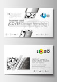 Business card templates. Cover template, easy editable blank, flat layout. Abstract triangle design background, modern Royalty Free Stock Photos