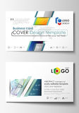 Business card templates. Cover template, easy editable vector, flat style layout. Colorful design background with Stock Photography