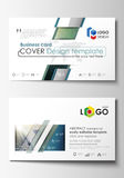 Business card templates. Easy editable layout, abstract flat design template, vector illustration. Chemistry pattern Stock Image