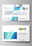Business card templates. Easy editable layout, abstract vector design template. Chemistry pattern, connecting lines  Stock Photography