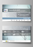 Business card templates. Easy editable layout, abstract vector design template.   Royalty Free Stock Photos