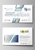 Business card templates. Easy editable layout, abstract vector design template. Chemistry pattern, connecting lines and Stock Photo