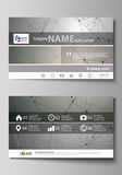 Business card templates. Easy editable layout, abstract vector design template.   Royalty Free Stock Image