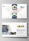 Business card templates. Easy editable layout, abstract vector design template. Colorful background made of dotted Royalty Free Stock Photo
