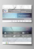 Business card templates. Easy editable layout, abstract vector design template. Compounds lines and dots. Big data Stock Images