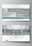 Business card templates. Easy editable layout, abstract vector design template. Minimalistic background with lines. Gray Royalty Free Stock Images