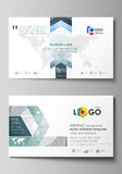 Business card templates. Easy editable layout, abstract vector design template. Minimalistic background with lines. Gray Stock Photography
