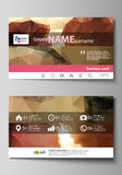 Business card templates. Easy editable layout, abstract vector design template. Romantic couple kissing. Beautiful Royalty Free Stock Images