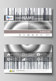 Business card templates. Easy editable layout, abstract vector design template. Simple monochrome geometric pattern Royalty Free Stock Photography