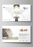 Business card templates. Easy editable layout, abstract vector design template. Technology, science, medical concept Stock Image