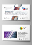 Business card templates. Easy editable layout, abstract vector template. Bright color colorful design, beautiful Royalty Free Stock Photography