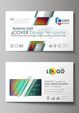 Business card templates. Easy editable layout, abstract vector template  Stock Images