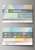 Business card templates. Easy editable layout, abstract vector template.  Royalty Free Stock Photography