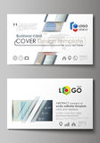 Business card templates. Easy editable layout, abstract vector template. Minimalistic design with lines, geometric Royalty Free Stock Photos