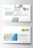 Business card templates. Easy editable layout. City map with streets. Flat design template for tourism businesses Royalty Free Stock Image