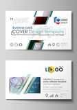 Business card templates. Easy editable layout, flat style template, vector illustration. Colorful design with Royalty Free Stock Photo