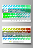 Business card templates. Easy editable layout, vector design template. Royalty Free Stock Photos