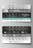 Business card templates. Easy editable layout, vector design template. Abstract infinity background, 3d structure with Royalty Free Stock Images