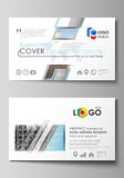 Business card templates. Easy editable layout, vector design template. Abstract landscape of nature. Dark color pattern Royalty Free Stock Photo