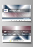 Business card templates. Easy editable layout, vector design template.  Stock Images