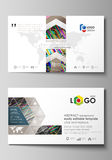 Business card templates. Easy editable layout, vector design template. Colorful background made of stripes. Abstract Royalty Free Stock Photo