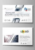 Business card templates. Easy editable layout, vector design template. Simple monochrome geometric pattern. Abstract Royalty Free Stock Image